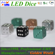 colorful LED CNC aluminium alloy dice