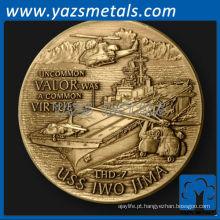 personalize metal USS Iwo Jima Naval Ship desafio moeda
