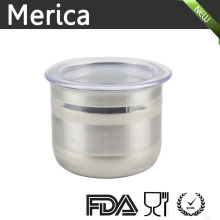 Stainless Steel Canister with Lip