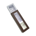 Elegante caja de regalo de chocolate con ventana de PVC