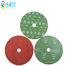 Disque abrasif enduit de fibre de papier de ponçage de carbure de silicium de haute qualité