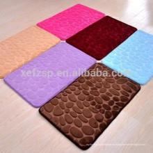100% poliéster lavable alfombras de baño