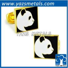 custom made gold panda cuffs with logo