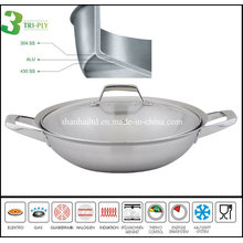 3 Ply Stainless Steel Chinese Cooking Wok
