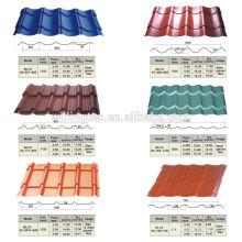 Preço da folha do telhado de zinco galvanizado em metal corruaged da China