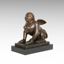Abstract Figure Statue Fat Angle Bronze Sculpture TPE-1003