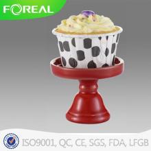 Stand de cupcake de metal de cor vermelha e metal