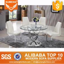table basse en forme de table ronde en acier inoxydable