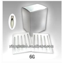 Aguja de perforación de acero inoxidable G6 316L