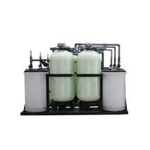Ablandador de agua continuo del tanque doble de salida de agua de 24 horas