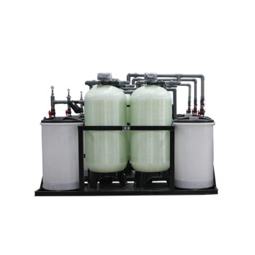 Continuous 24 Hours Water Output Double Tank Water Softener