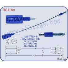 indicativo do selo BG-G-001, selo de recipiente
