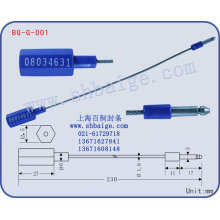 Ориентировочные печать BG-G-001, уплотнение контейнера