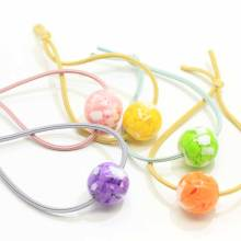 Colored Round Beads Elastic Hair Band Tie Women Girls Simple Fashion Hair Scrunchies Ponytail Holders Hair Accessories