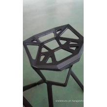 Barato barato de boa qualidade venda quente empilhável design criativo cadeira de boca de tubarão bar fezes de plástico