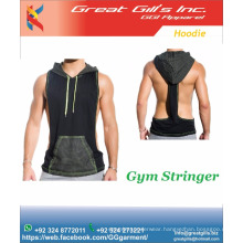 tank top fitness wear, stringer tank top with hoodies