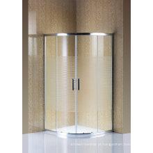 Tela de chuveiro de vidro simples do cerco do chuveiro