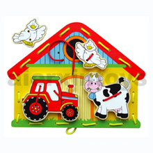 Wooden Lacing Puzzle for Baby (80129)