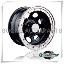 "Soft 8-Beadlock Wheels GS-105-2 Steel Wheel from 15"" to 17"" with different PCD, Offset and Vent hole"