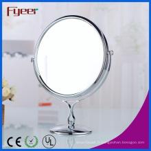 Fyeer Miroir de table de maquillage de salle de bain ronde de 8 po