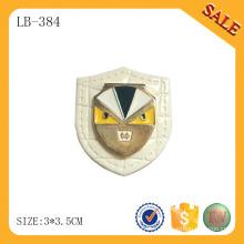 LB384 Appliqués en tissu décoratif en cuir en cuir patch custom metal logo patch en cuir pour manteau