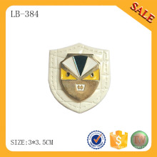 LB384 Decorative clothing patches jeans leather patch custom metal logo leather patch for coat
