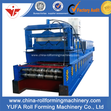 Metal floor deck tile making machine