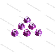 Wholes Price M3 M4 M5 Colorful Aluminum Alloy Nylon Lock Flange Nuts