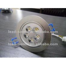 Movimiento del sensor de la iluminación del lavabo 5 * 1w llevado abajo de luces luz de techo del pasillo del hotel