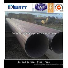 ERW geschweißt rundes kohlenstoffarmes Stahlrohr & Rohr für den Bau