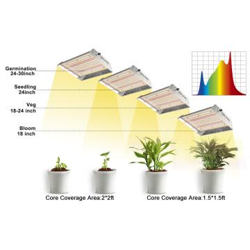 640 Вт складной светодиодный светильник для выращивания растений полного спектра