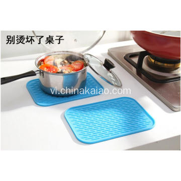 Bảng Dish Plate Chậu Holder Draining Mat Silicone Coaster