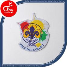 Baratos insignias tejidas para la ropa / parche tejido personalizado para la ropa