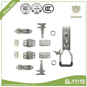Storage Container Locking Gear With Key