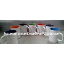 Inside Color Outside White Color Mug, 380ml Ceramic Mug