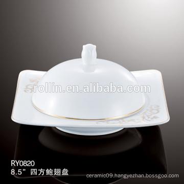 Hotel & Restaurant white ceramic plates, Source plates,porcelain soup plates wholesale