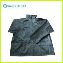 Chaqueta para la lluvia impermeable de los hombres del PVC del poliéster Rpe-104