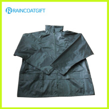 Waterproof Polyester PVC Men′s Rain Jacket Rpe-104