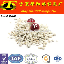 Purificação de água mineral de pedra maifan com alta capacidade de adsorção