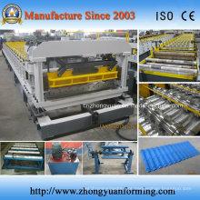 Folha de telhado de alumínio que faz a máquina