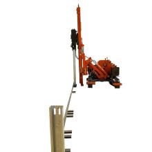 Conduite de pieux de marteaux sur chenilles de conducteur de poutre en acier