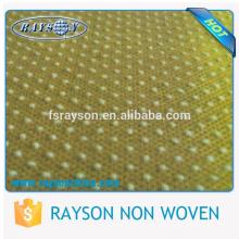 Matéria têxtil amigável do poliéster de Eco com os pontos do silicone para deslizadores descartáveis