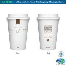Taza de café especializada con tapa