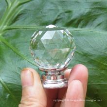 Les armoires de cuisine en cristal transparent de 35mm tirent
