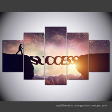 "5 Panel HD Printed Modular Canvas Painting ""Success"" Canvas Print Art Modern Home Decor Wall Art Picture for Living Room Mc-155"