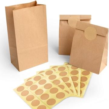 Customized beverage doggie bag take away food bag disposable kraft paper bag