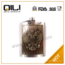 FDA Fancy 6oz custom big eagle flask with plate