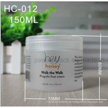 150ml Haustier-Plastikglas für kosmetische Creme (mattierte Oberfläche)