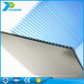 Factory price makrolon materil four wall polycarbonate blue tint plastic honeycomb roofing sheet