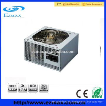 Dongguan Fabricación venta caliente 500W PC fuente de alimentación PC adaptador para ATX V2.3 con 12CM silencioso ventilador